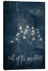 Tableau sur toile  call of the mountains - Sybille Sterk