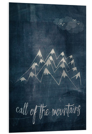 Tableau en PVC  call of the mountains - Sybille Sterk