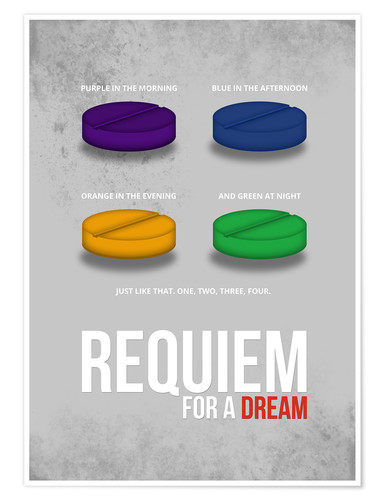 Poster Requiem for a Dream (anglais)