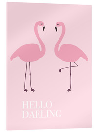 Verre acrylique  Hello Darling Flamingo - Finlay and Noa