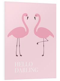 Tableau en PVC  Flamants roses (anglais) - Finlay and Noa