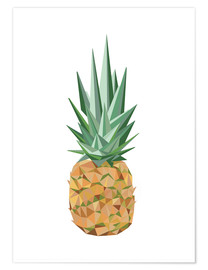 Poster Ananas polygone