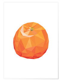 Poster Orange polygonale