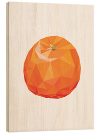 Tableau en bois  Orange polygonale - Finlay and Noa
