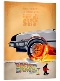 Tableau en verre acrylique  Back to the Future I - HDMI2K