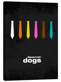 Toile  Reservoir Dogs - Minimal Film Movie Tarantino Alternative - HDMI2K