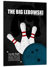 Alu-Dibond  The Big Lebowski - Minimal Movie Film Cult Alternative - HDMI2K