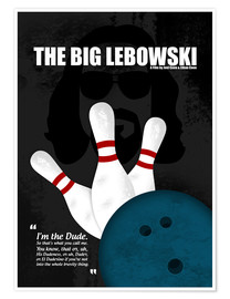 Poster  The Big Lebowski - Minimal Movie Film Cult Alternative - HDMI2K