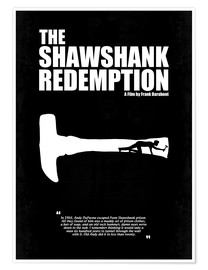 Poster  The Shawshank Redemption - Minimal Movie Film Fanart Alternative - HDMI2K