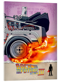 Tableau en verre acrylique  Back to the Future III - HDMI2K