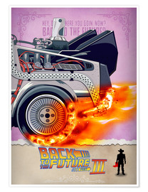 Poster  Back to the Future - Minimal Movie - Part 3 of 3 Alternative - HDMI2K