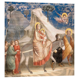 Tableau en PVC  The Flight to Egypt - Giotto di Bondone