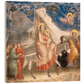 Tableau en bois  The Flight to Egypt - Giotto di Bondone