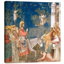 Tableau sur toile  The Entry into Jerusalem - Giotto di Bondone