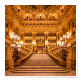 Poster  Staircase of the Opera Garnier in Paris France - Jan Christopher Becke