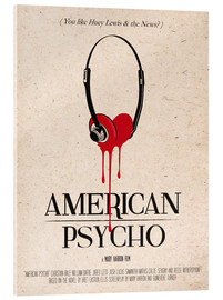 Verre acrylique  alternative american psycho retro movie poster - 2ToastDesign