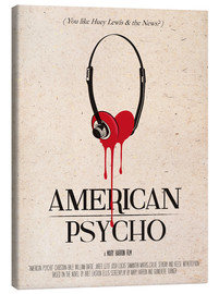 Toile  alternative american psycho retro movie poster - 2ToastDesign