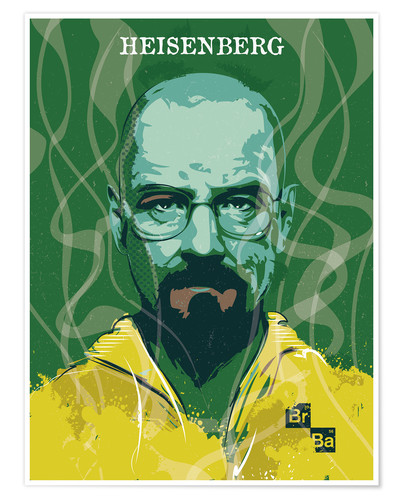 Poster Heisenberg, Breaking bad