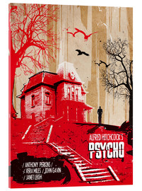 Verre acrylique  alternative psycho movie poster - 2ToastDesign