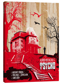 Tableau sur toile  Affiche alternative du film Psycho - 2ToastDesign