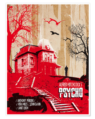 Poster Affiche alternative du film Psycho