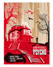 Poster  Affiche alternative du film Psycho - 2ToastDesign