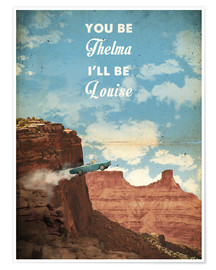 Poster  Thelma et Louise, citation (anglais) - 2ToastDesign