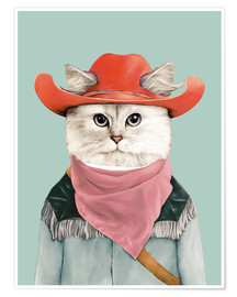 Poster  Chat cow-boy - Animal Crew