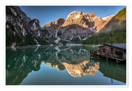 Poster Braies Lake - Dolomite Alps