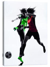 Tableau sur toile  two soccer players