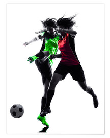 Poster two soccer players