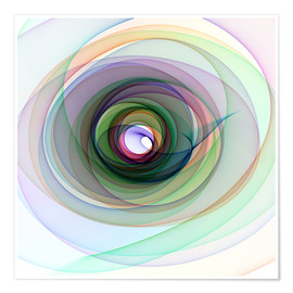 Poster  Colourful spiral