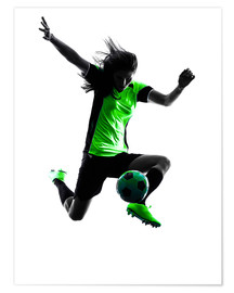 Poster  soccer player