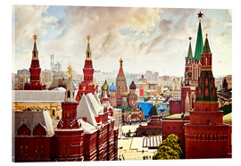 Verre acrylique  Aerial view of the Kremlin in Moscow, Red Square