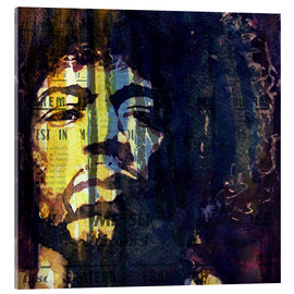 Tableau en verre acrylique  Jimmy Hendrix - Paul Lovering Arts