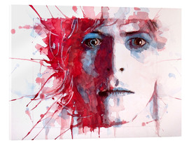 Tableau en verre acrylique  David Bowie - Paul Lovering Arts
