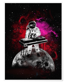 Poster  alternative space astronaut dj art poster - 2ToastDesign