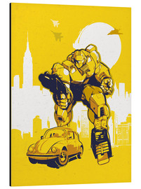 Tableau en aluminium  Transformers Bumblebee - 2ToastDesign