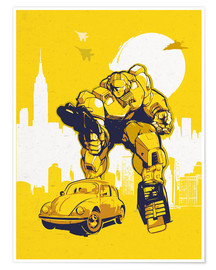 Poster  alternative bumblebee retro transformers art - 2ToastDesign