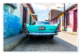 Poster  Voiture ancienne à Cuba - Reemt Peters-Hein