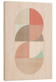 Tableau en bois  Wooden circles - Amy and Kurt