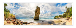 Poster  Plage idyllique - Cathedral Cove - Nouvelle-Zélande - Michael Rucker