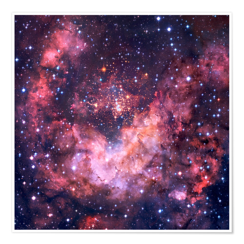 Poster Westerlund 2 star cluster in Carina.