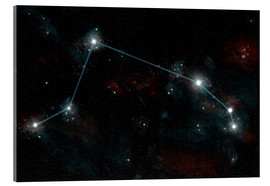 Tableau en verre acrylique  Artist's depiction of the constellation Aries the Ram. - Marc Ward