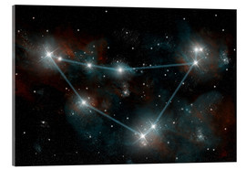 Verre acrylique  Artist's depiction of the constellation Capricorn the Sea Goat. - Marc Ward