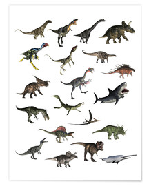 Poster  Overview dinosaurs - Elena Duvernay