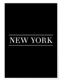 Poster  NEW YORK | HORIZONTAL - Stephanie Wünsche