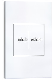 Toile  Inhale | Exhale - Stephanie Wünsche