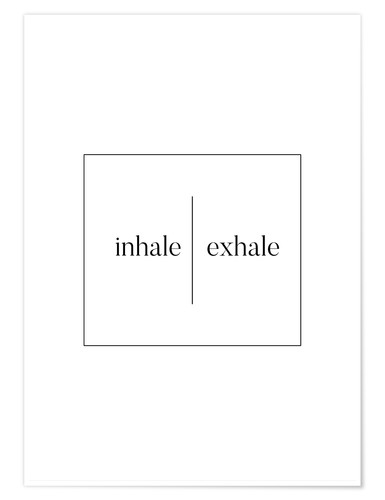 Poster Inhale | Exhale