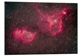Tableau en PVC  The Heart and Soul Nebula in the constellation Cassiopeia. - Alan Dyer